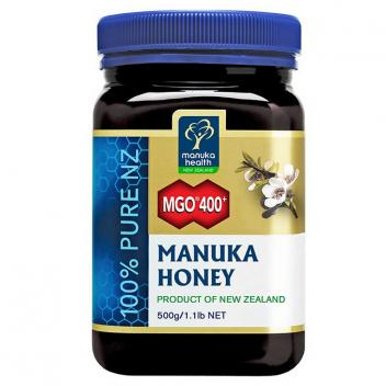【七夕 美食】蜜纽康 MGO400+麦卢卡蜂蜜 500g Manuka Health MGO400+ Manuka Honey