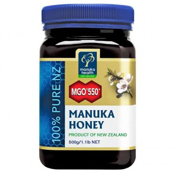 【七夕 美食】蜜纽康 MGO550+麦卢卡蜂蜜 500g Manuka Health MGO550+ Manuka Honey