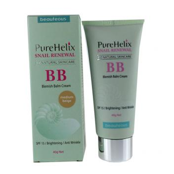 【金牛特价】米白色 蜗牛精华BB霜SPF15 保湿遮瑕 40g 含蜗牛精华 Beauteous PureHelix Snail Renewal BB Cream (medium beige)