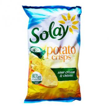 薯片 香葱奶油味 零食 150g Solay Potato Chips So...