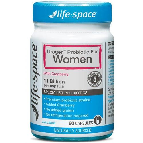Life Space 女性益生菌蔓越莓胶囊 60粒 Life Space Urogen Probiotic for Women 60 Capsules