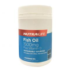 深海鱼油 1500mg 含VD 180粒 纽乐 Nutralife OMEGA 3 FISH OIL 1500mg Plus Vitamin D 180caps 新旧包装随机发