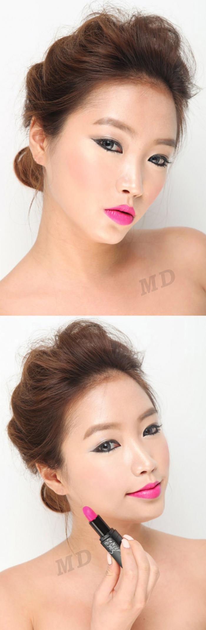 308干净亮丽的紫红色 尹恩惠想你色口红 唇膏(方管)3ce 3 concept